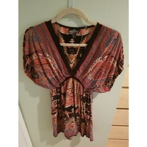 Angie boho butterfly top